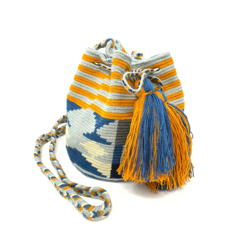 Wayuu Small Bag - Blue & Orange