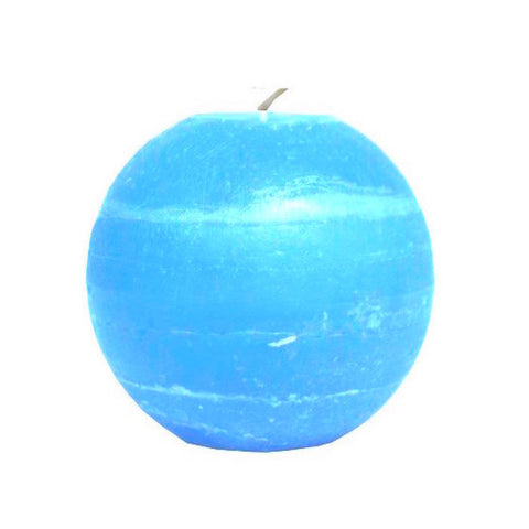 Ball Candle 10cm - Aqua Blue