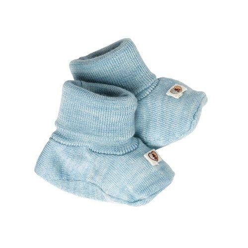 Pure Merino Booties - Cornflower