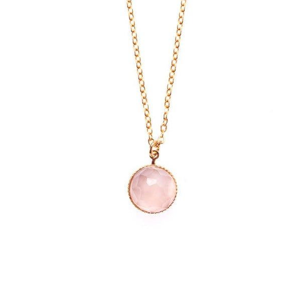 Pom Pendant Necklace Nude
