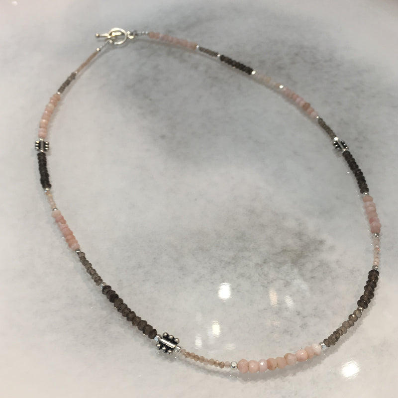 Lorren Necklace - Pink Opal