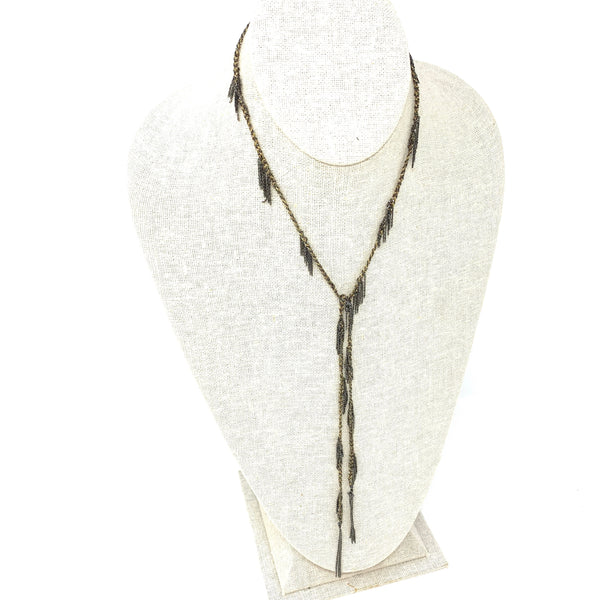 Necklace Silver, Ruthenium Finishing Lurex Yarn