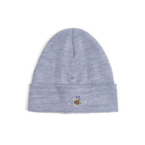 Merino Beanie Denim Bee
