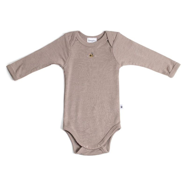 Merino Bodysuit Sable Bee