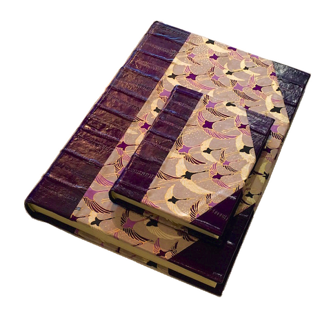 Handmade Notebook - Purple Cranes