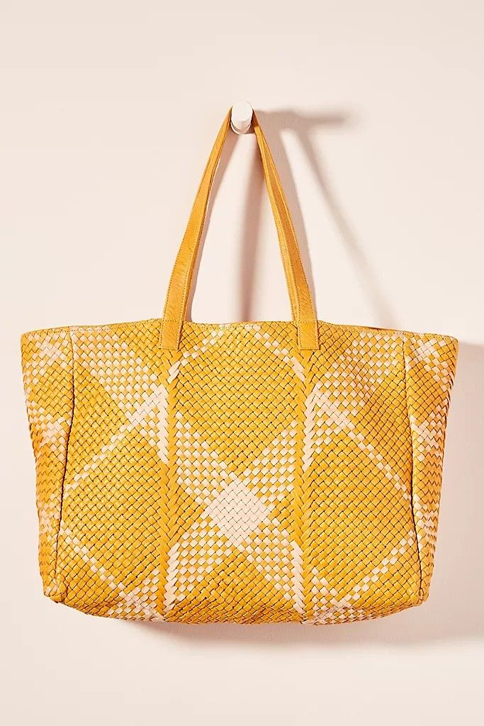 Yvonne Tote Leather Bag - Gold
