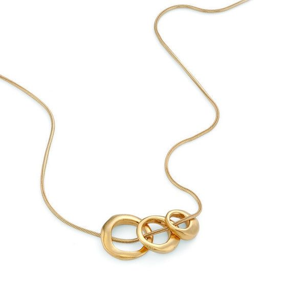 Three Rings Gold Necklace