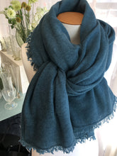 Load image into Gallery viewer, Cashmere Scarf Blue