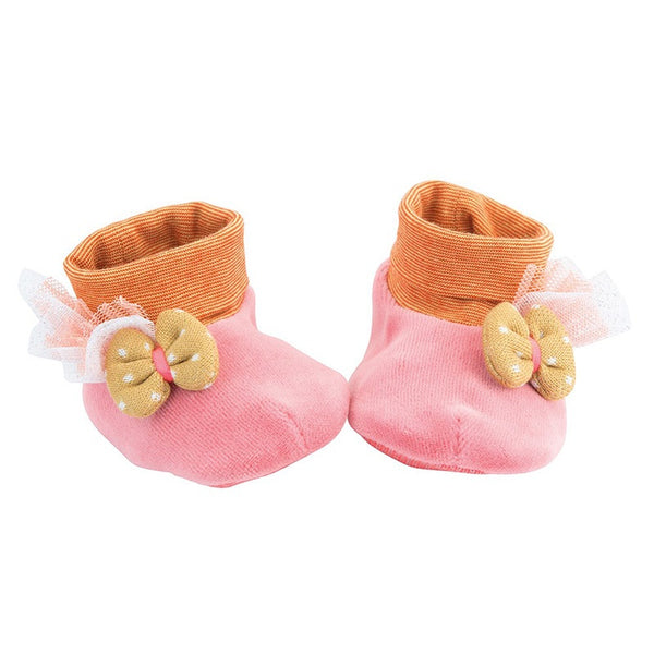 Les Tartempois Pink Baby Slippers