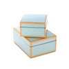 Duck Egg Blue Lacquer Boxes