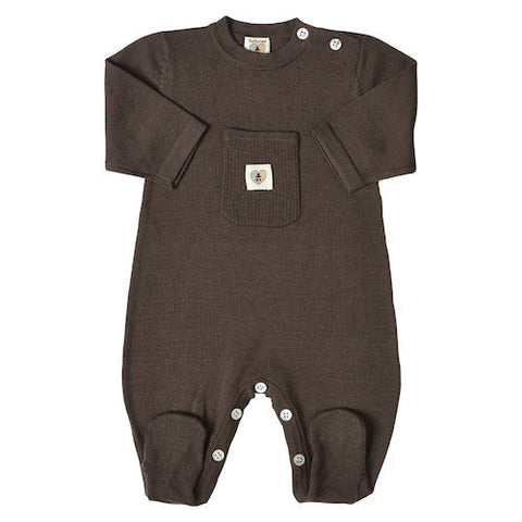 Pure Merino Snugglesuit - Chocolate Brown