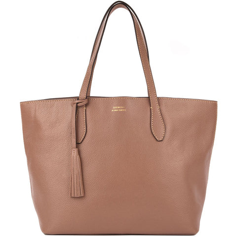 Leather Shopper Bag - Blush