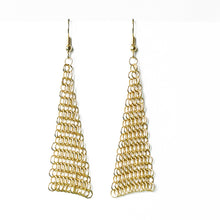 Load image into Gallery viewer, Collection B Chainmail Earrings - Gold
