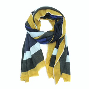 Wool Scarf 457 - Japan Blue