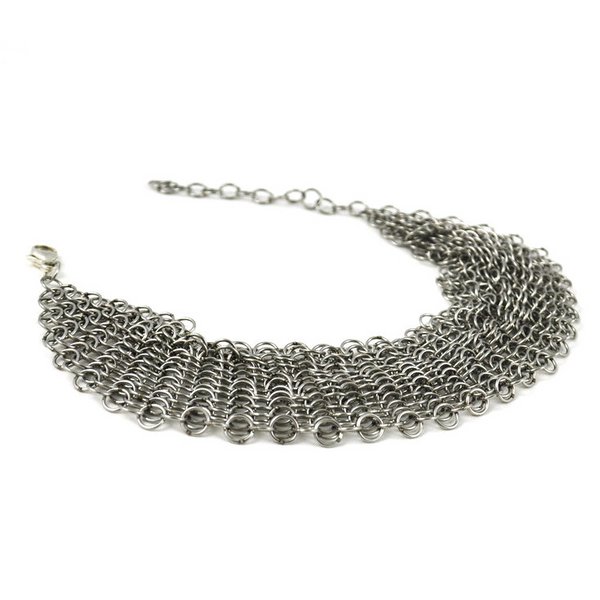 Collection B Chainmail Bracelet - Silver