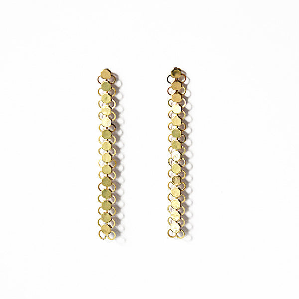Louison Scale Earrings - Gold