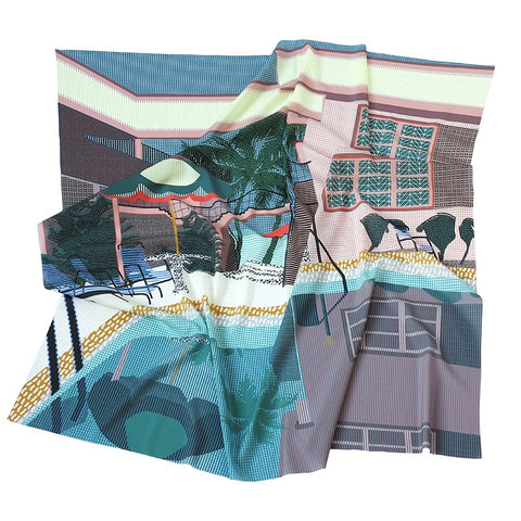Silk Scarf - Florida
