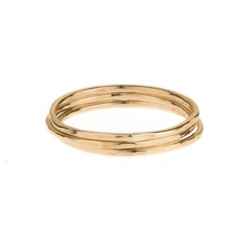 Trio Stack Yellow Gold Rings