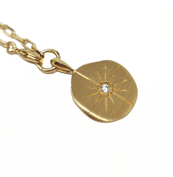 Jet Necklace/Bracelet Sun Medallion