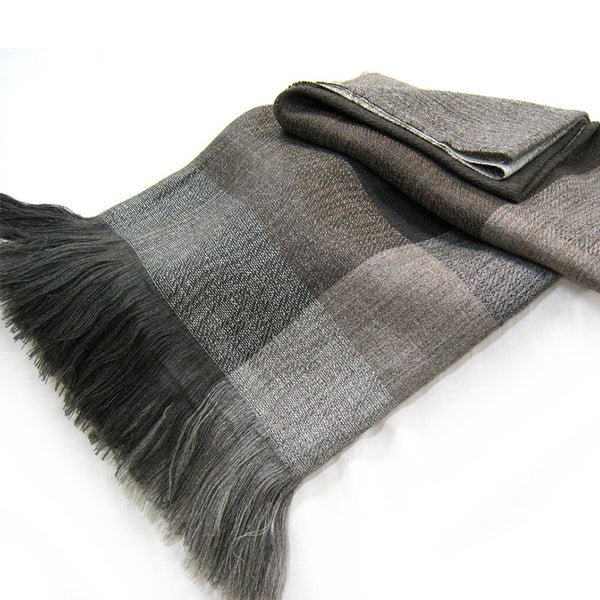 Grey Wool & Alpaca Throw - Coco