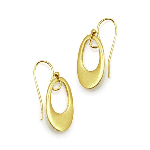 Extra Small Oval Earrings - Gold Vermeil