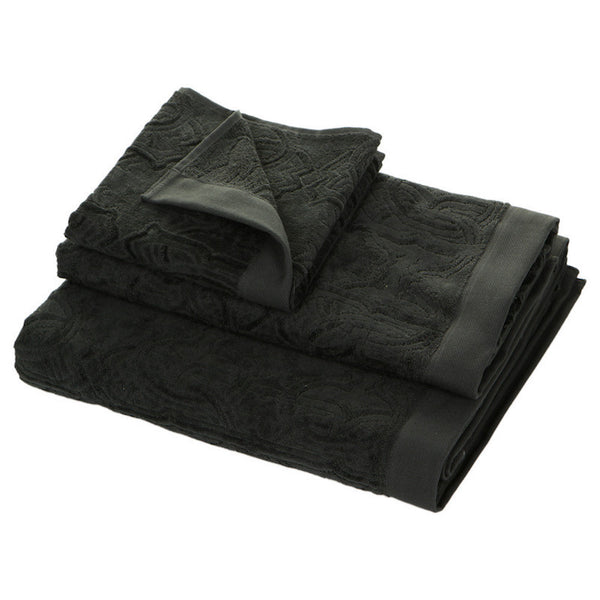 Roberto Cavalli Logo Towels - Dark Grey