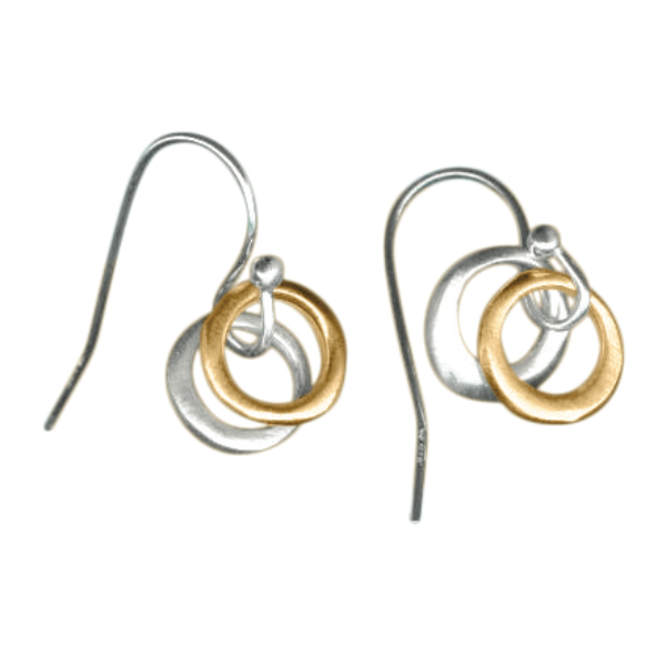 Mixed Metal Circles Earrings