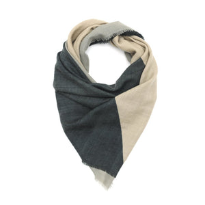 Wool Scarf 447 - Soft Blue