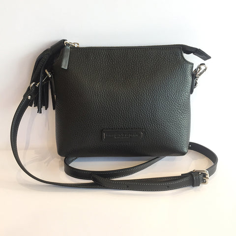 Adria Crossbody Bag - Black & Black