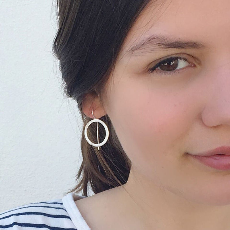 Aretes Hippies Medium Earrings Silver