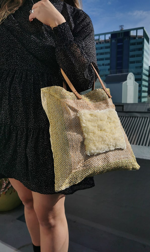 Gold + Buttercream Square Tote