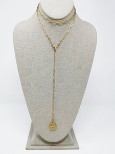 Falcon Multiposition Neo Medallion Necklace