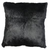Rabbit Fur Cushion - Black Square