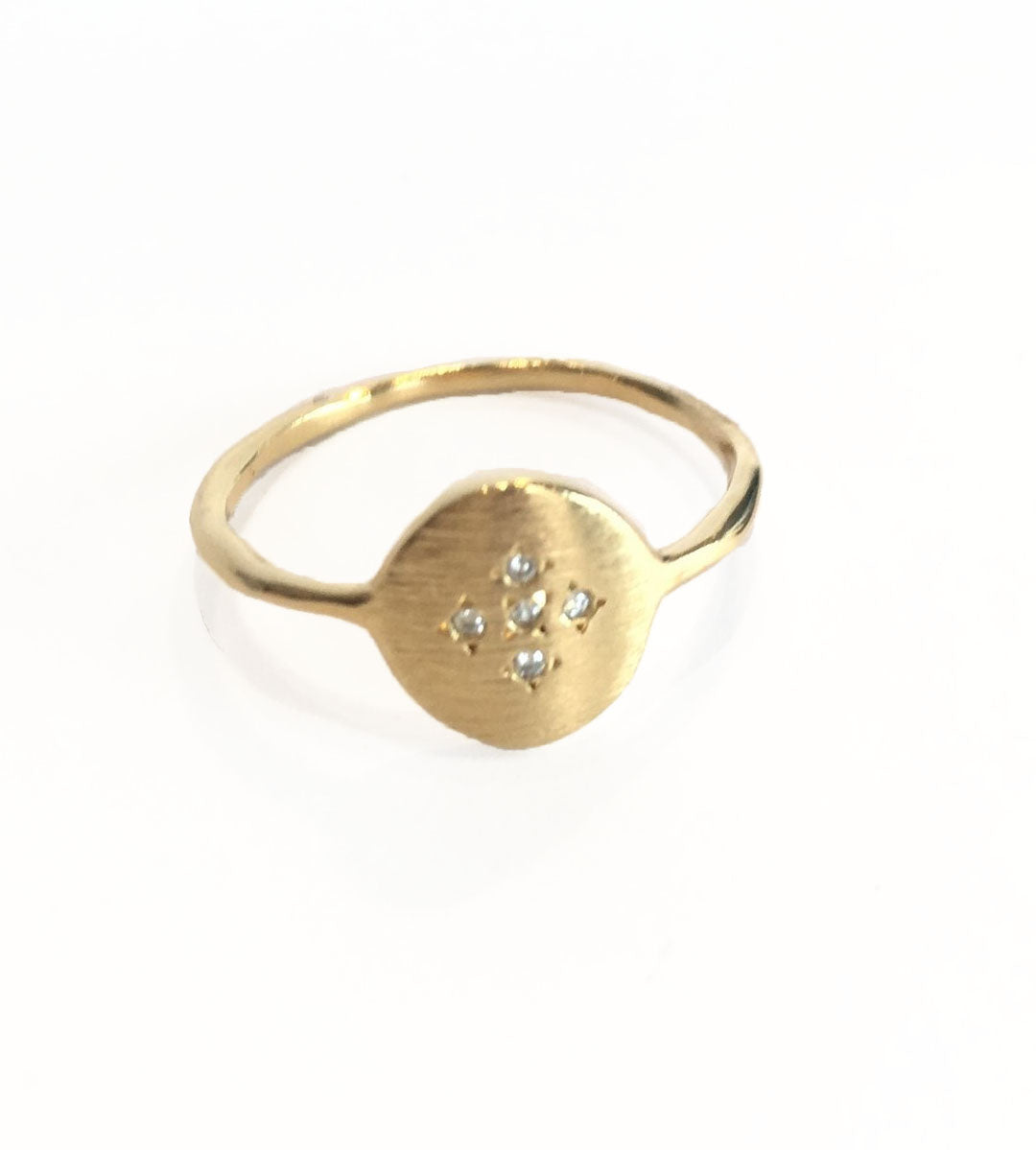 Medallion Cross Ring