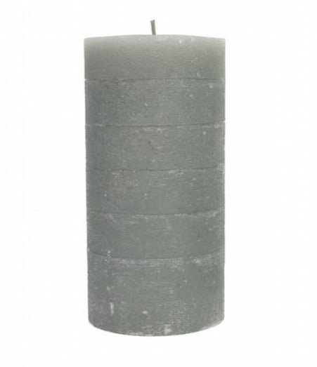 Pillar Candle 18cm - Grey