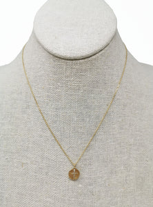 Hope Medallion Small Necklace Zirconium Cross
