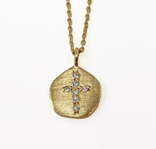 Load image into Gallery viewer, Hope Medallion Small Necklace Zirconium Cross