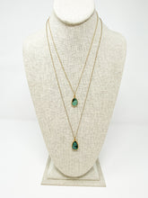 Load image into Gallery viewer, Kara Pendant Short Emerald Stone