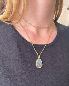 Kurt Multiposition Labradorite Stone Necklace