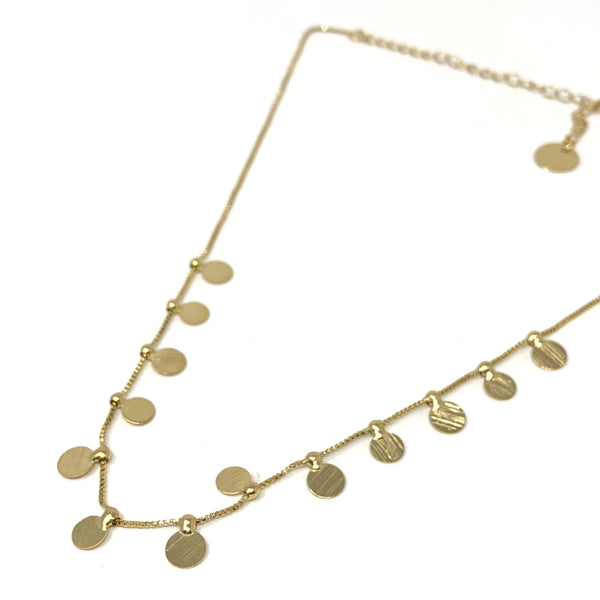 Gitane Gold Disc Necklace