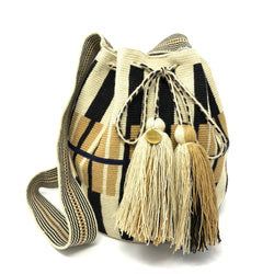 Wayuu Medium Bag Beige & Black