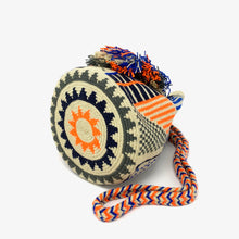 Load image into Gallery viewer, Wayuu Small Bag - Orange & Blue