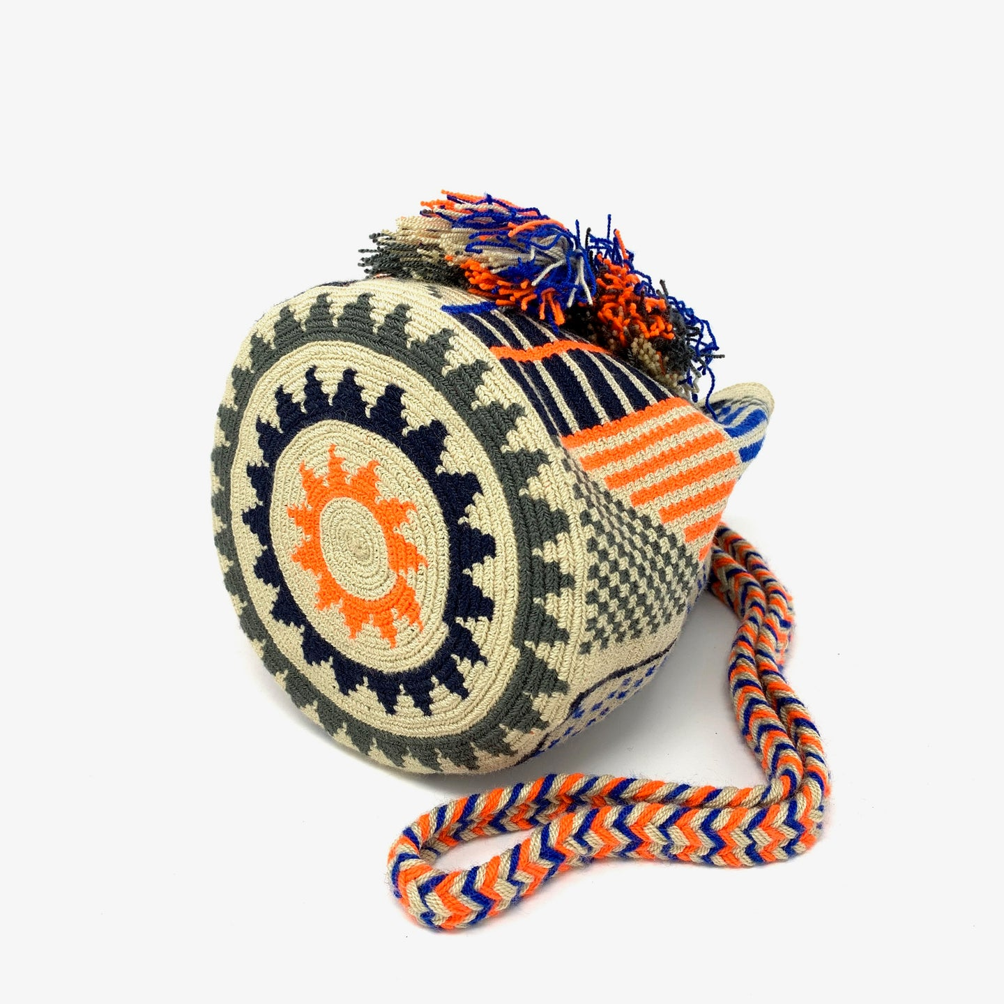 Wayuu Small Bag - Orange & Blue