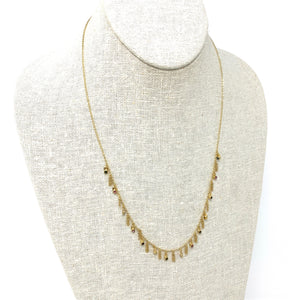Necklace Sterling Silver, Gold, Zirconium beads Multi Gold