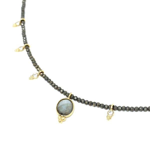 Aura Necklace Labradorite