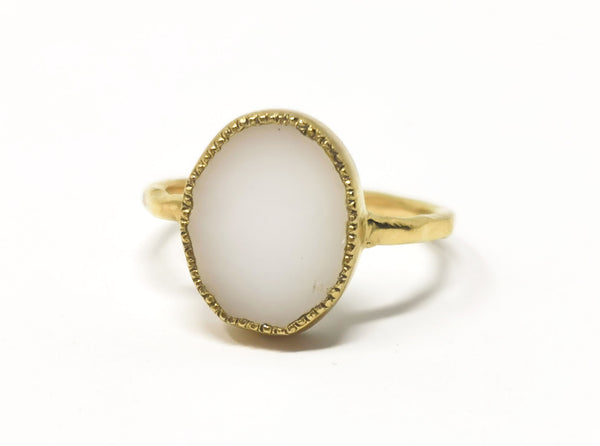 Kara Ring - White Agate