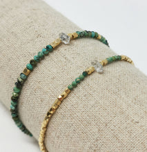 Load image into Gallery viewer, Kim Bracelet Turquoise Herkimer