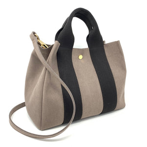 Japanese Suede Bag Taupe Large