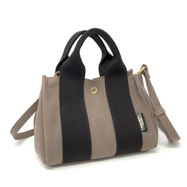 Japanese Suede Bag Taupe Small