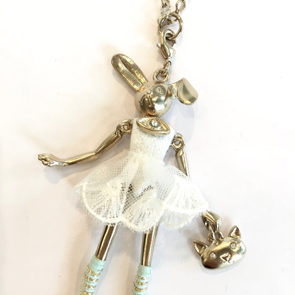 Doll Necklace - White Rabbit